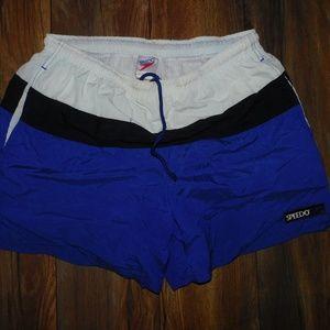 Vintage Nike Nylon/Polyester Large Blue Swim Trunk